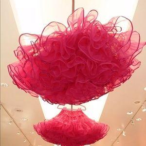 Pink tutu skirt crinoline Betsey Johnson display
